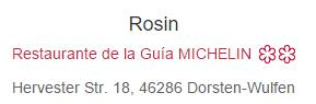 rosin en guia michelin
